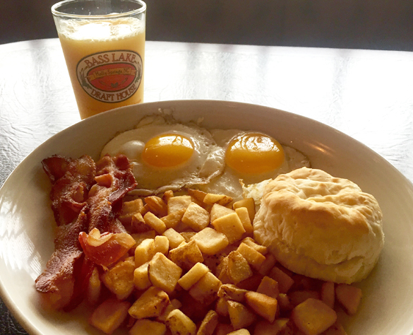 two eggs-home fries-biscuit-bacon